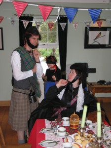 Queen Victoria and John Brown at Bunting and Bunnits, Buns and Balmoral