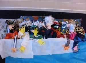 Puppets need to sleep too! Butterfly Moon, Laurencekirk Primary 2011